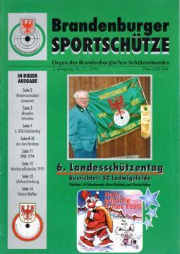 Brandenburger Sportschütze. Organ des Brandenburgischen Schützenbundes. 2. Jg. Nr. 12 (1994)