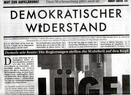 Demokratischer Widerstand. Wochenzeitung Nr. 61 ab 11. September 2021