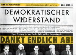 Demokratischer Widerstand. Wochenzeitung Nr. 62 ab. 18. September 2021