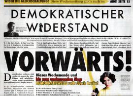 Demokratischer Widerstand. Wochenzeitung Nr. 60 ab 28. August 2021