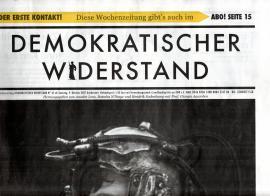 Demokratischer Widerstand. Wochenzeitung Nr. 65 ab 9. Oktober 2021